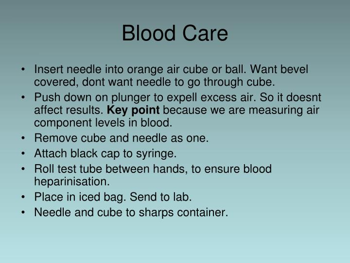 Blood Care