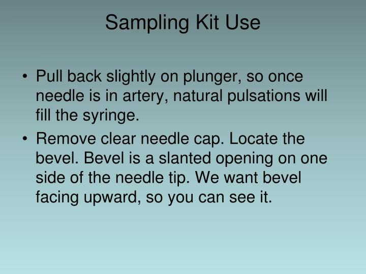 Sampling Kit Use
