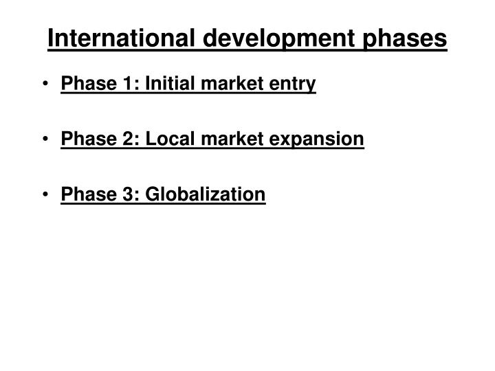 International development phases