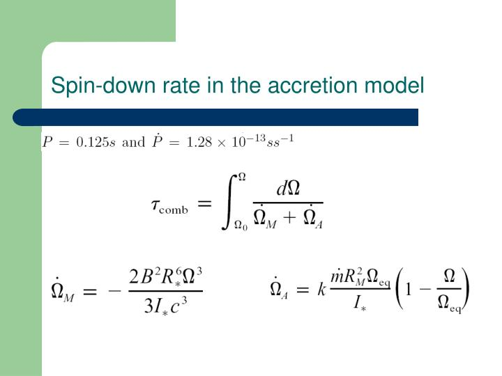 Spin-down rate in the accretion model
