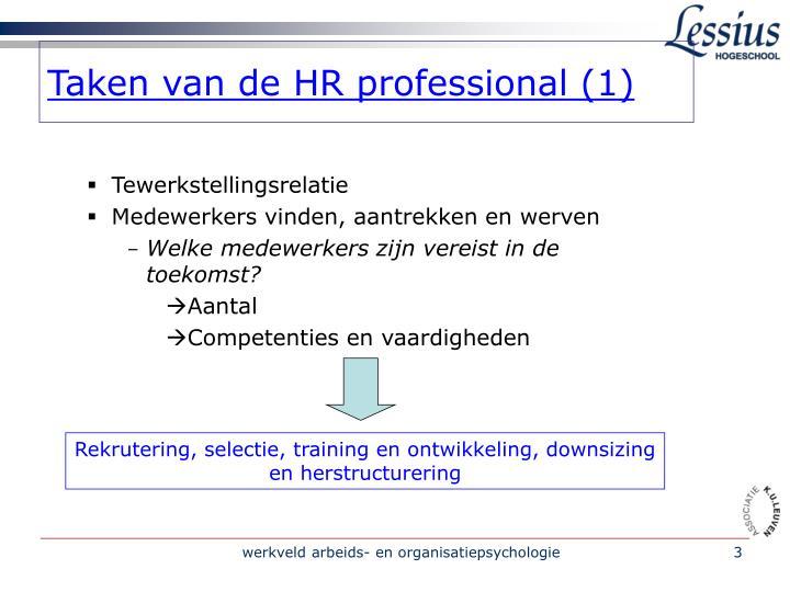 Taken van de HR professional (1)