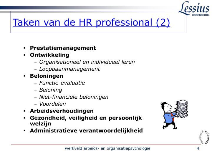 Taken van de HR professional (2)