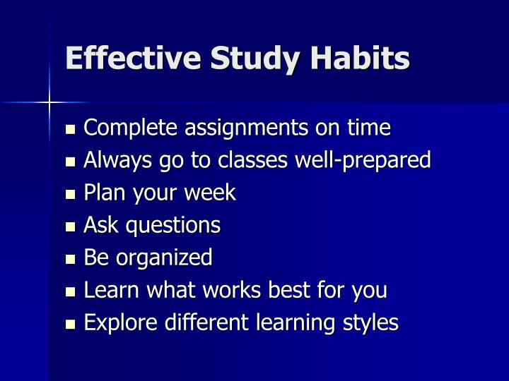 Effective Study Habits