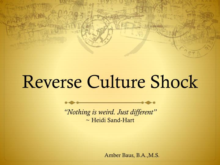 what is culture shock example