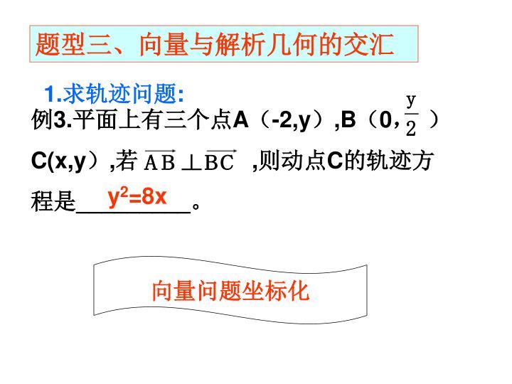 题型三、向量与解析几何的交汇