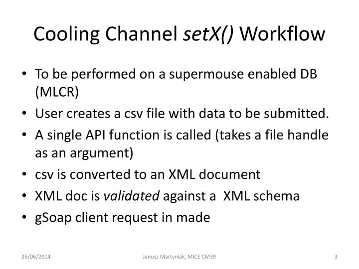Cooling channel setx workflow