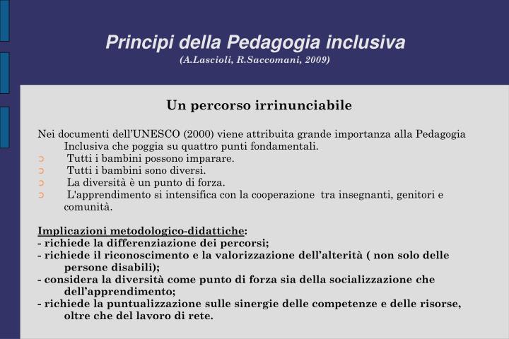 Principi della Pedagogia inclusiva