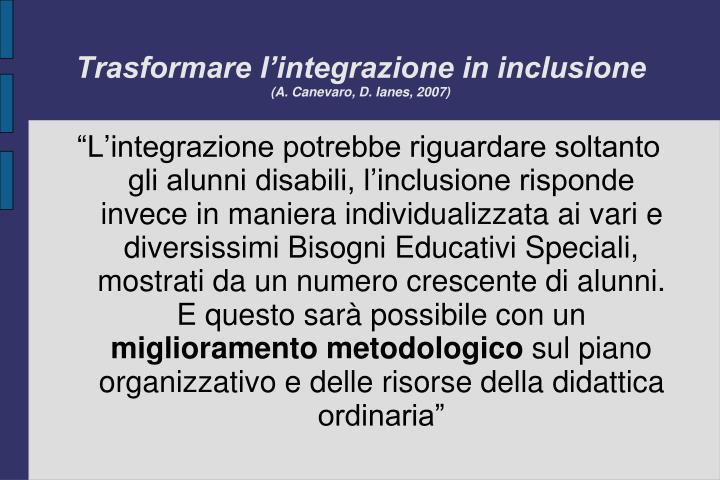 Trasformare l'integrazione in inclusione