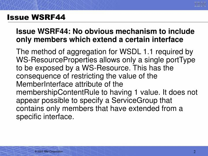 Issue WSRF44