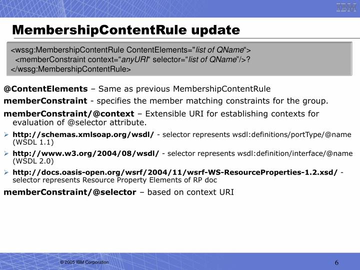 MembershipContentRule update