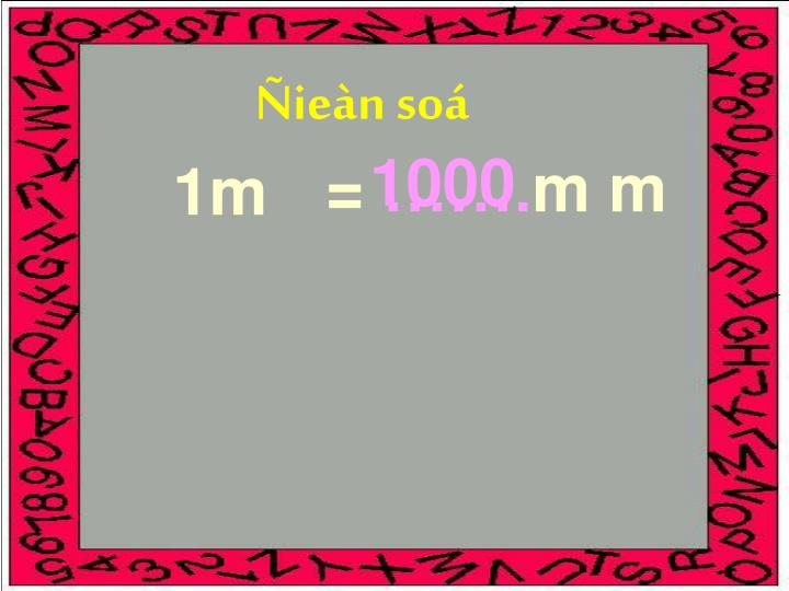 Ñieàn soá