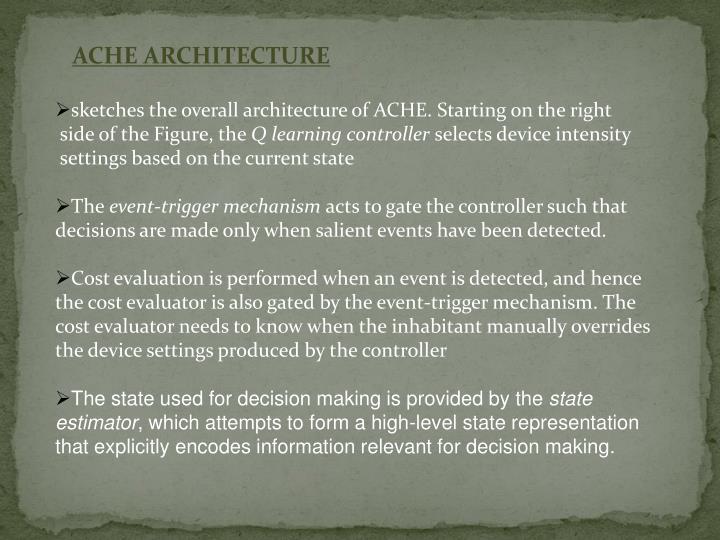 ACHE ARCHITECTURE