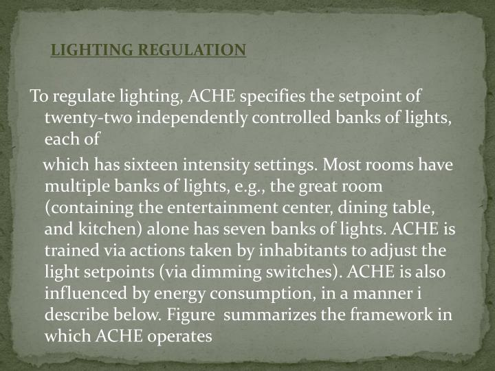 LIGHTING REGULATION