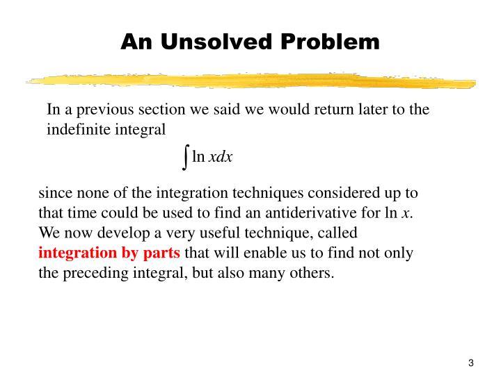 An Unsolved Problem