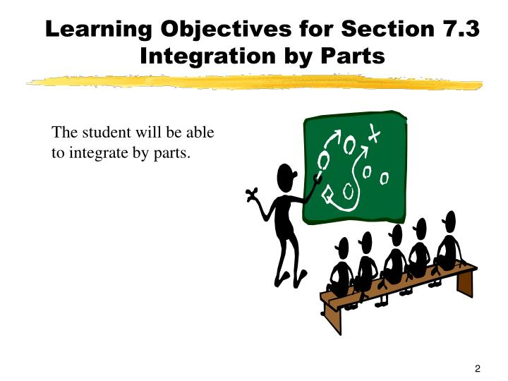 Learning Objectives for Section 7.3