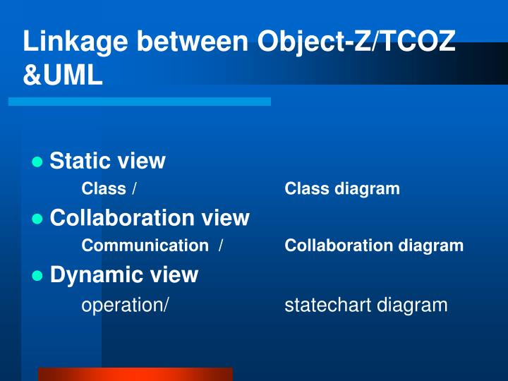 Linkage between Object-Z/TCOZ &UML