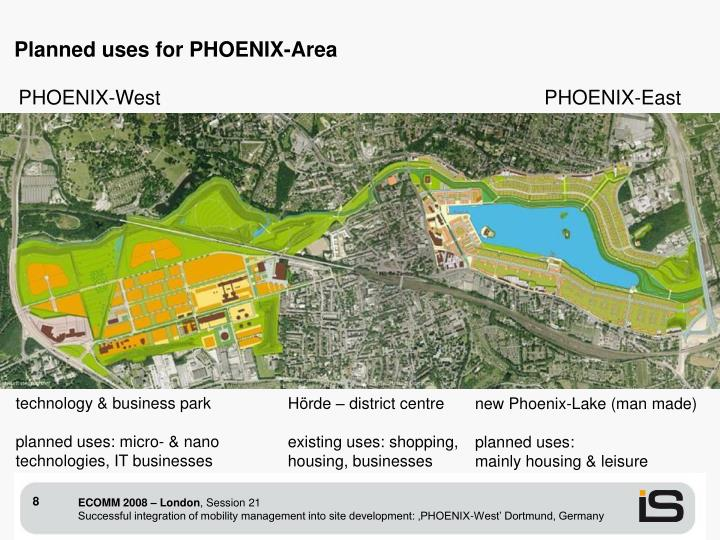 Planned uses for PHOENIX-Area