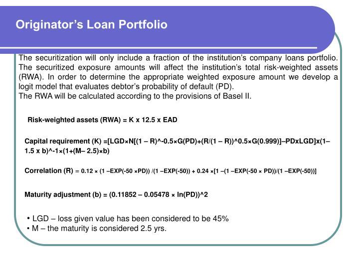 Originator's Loan Portfolio