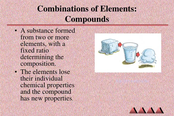 Combinations of Elements: