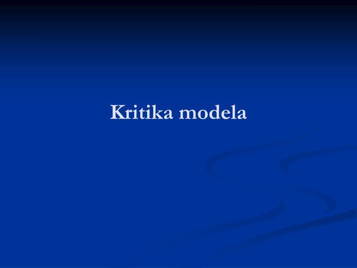 Kritika modela