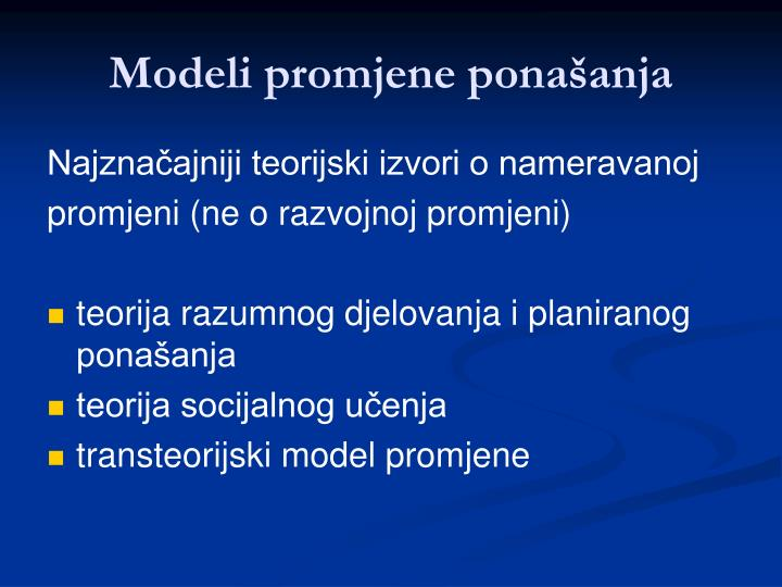Modeli promjene ponašanja