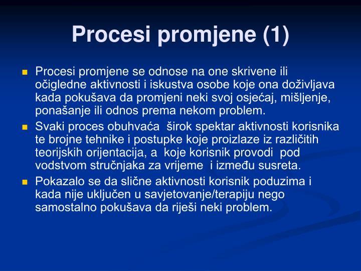 Procesi promjene (1)