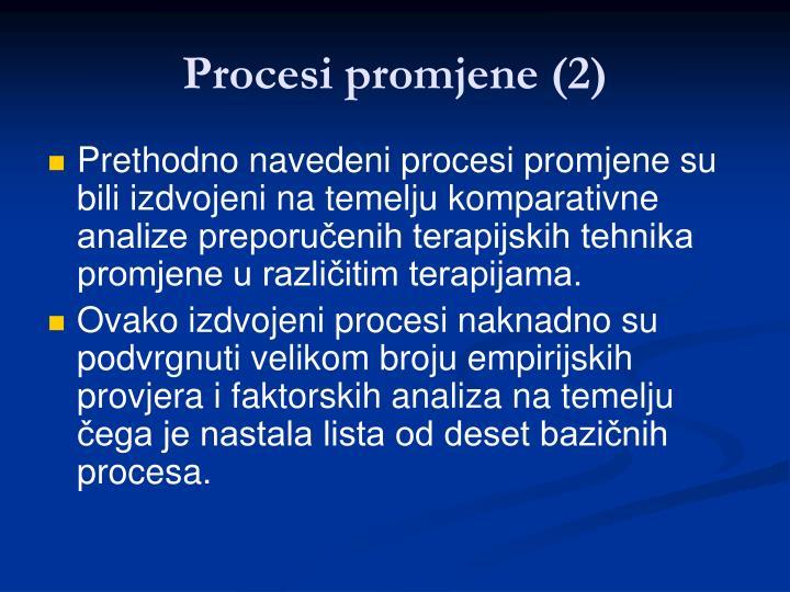 Procesi promjene (2)