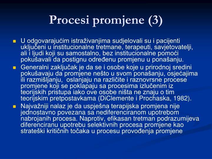 Procesi promjene (3)