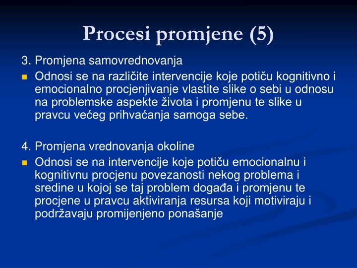 Procesi promjene (5)