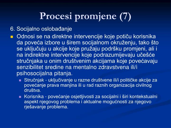Procesi promjene (7)