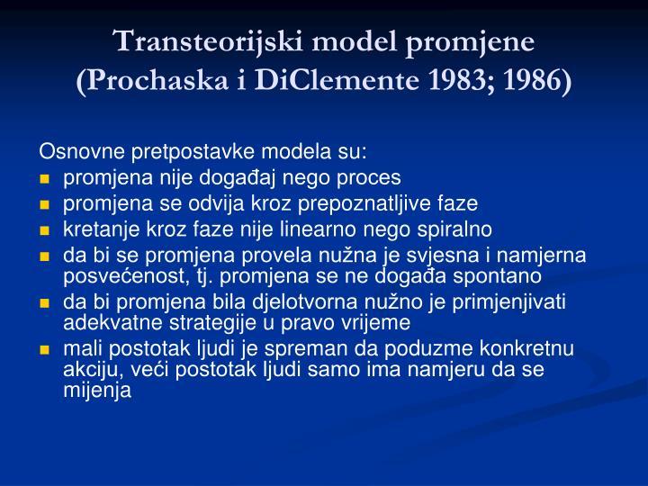 Transteorijski model promjene