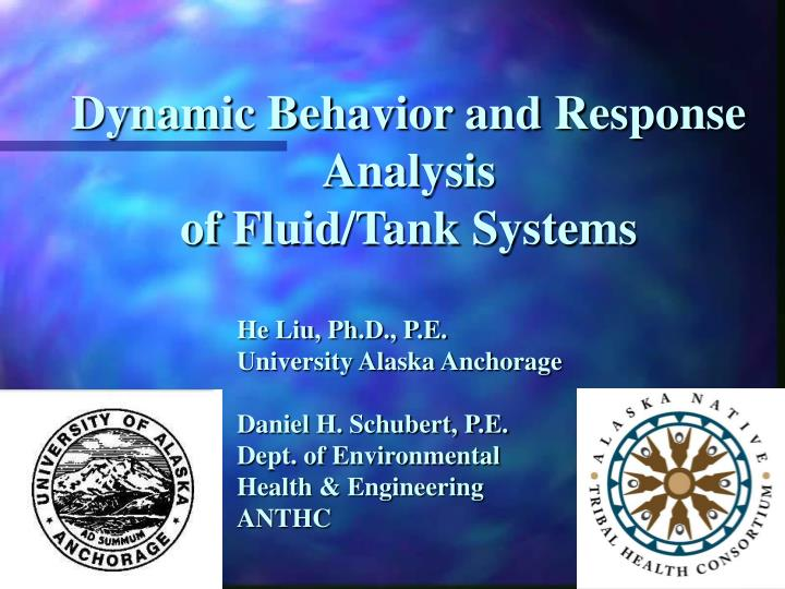 Dynamic Behavior and Response Analysis