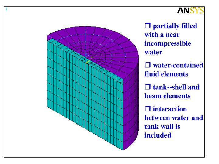 partially filled with a near incompressible water