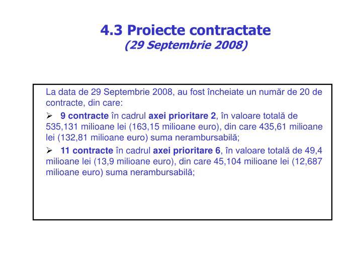 4.3 Proiecte contractate