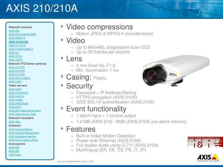 AXIS 210/210A