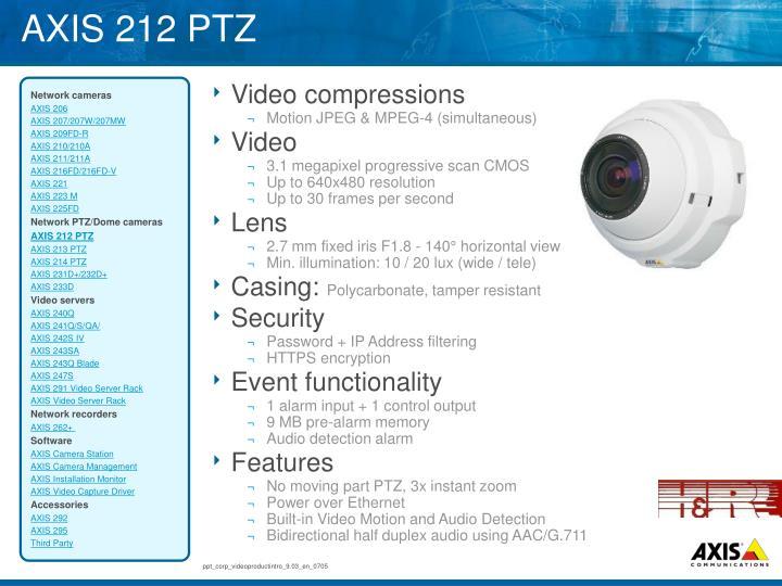 AXIS 212 PTZ