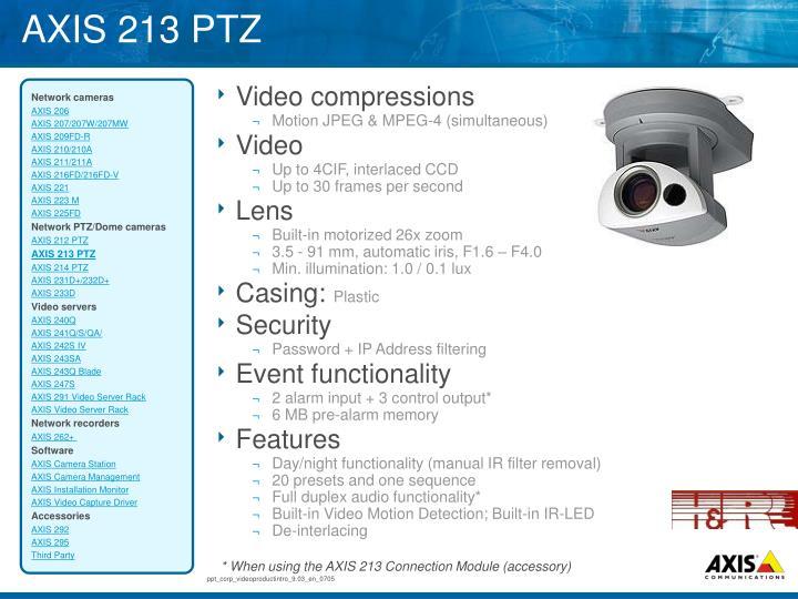 AXIS 213 PTZ
