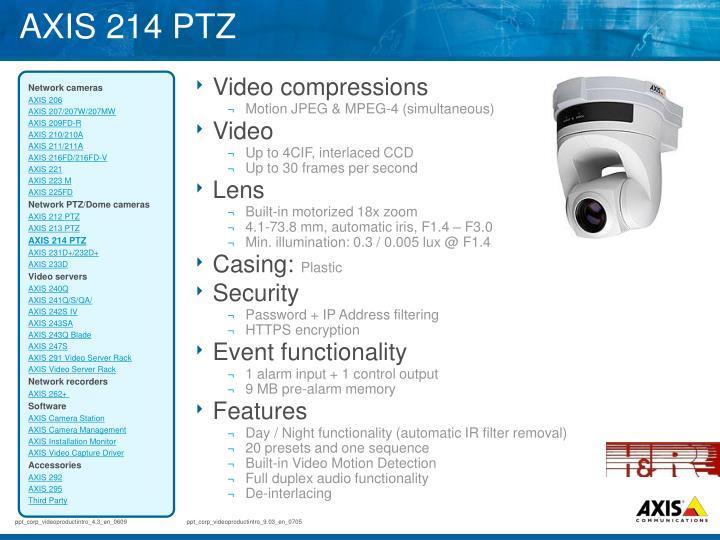 AXIS 214 PTZ