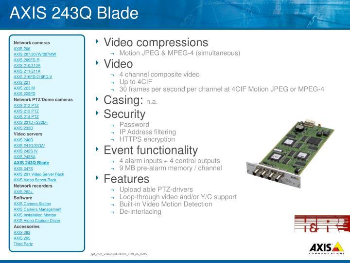 AXIS 243Q Blade
