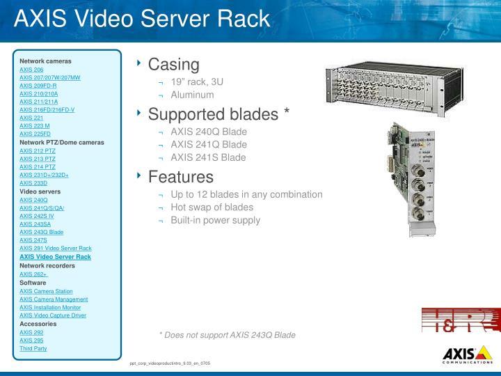 AXIS Video Server Rack