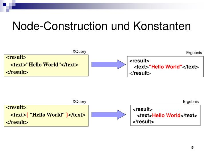 Node-Construction und Konstanten