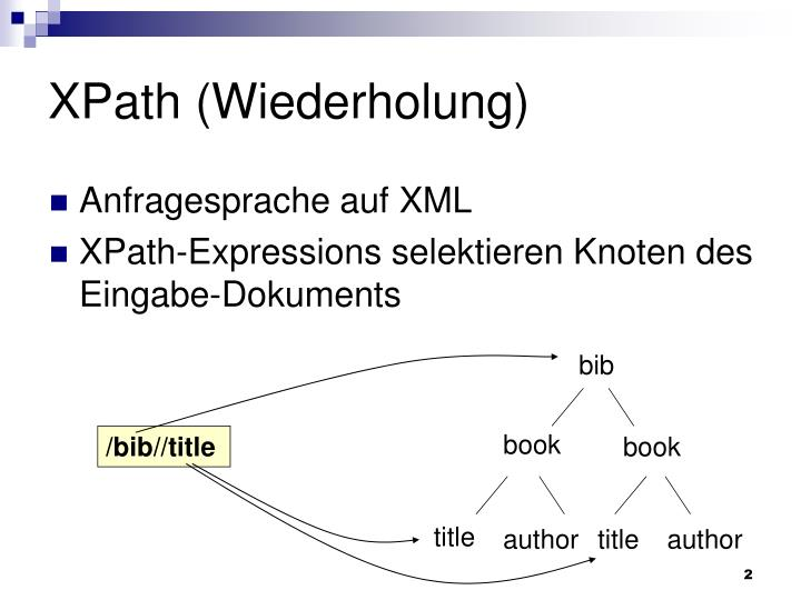 XPath (Wiederholung)