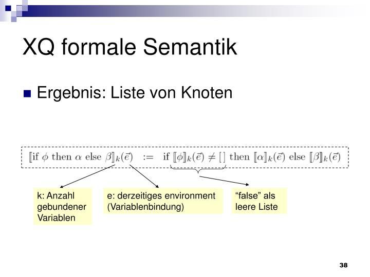 XQ formale Semantik