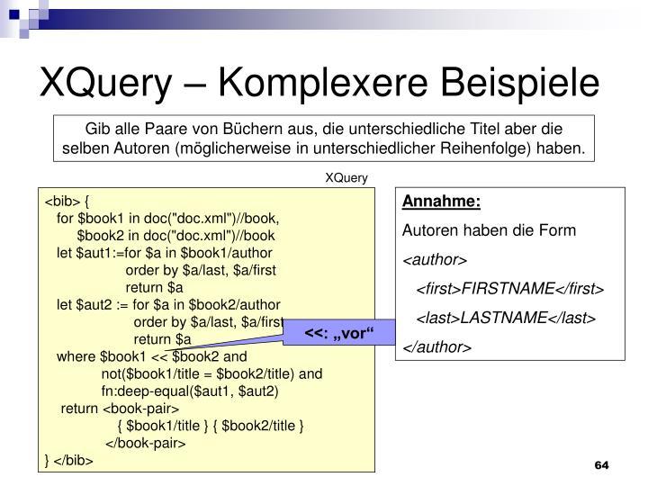 XQuery – Komplexere Beispiele