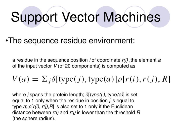 Support Vector Machines