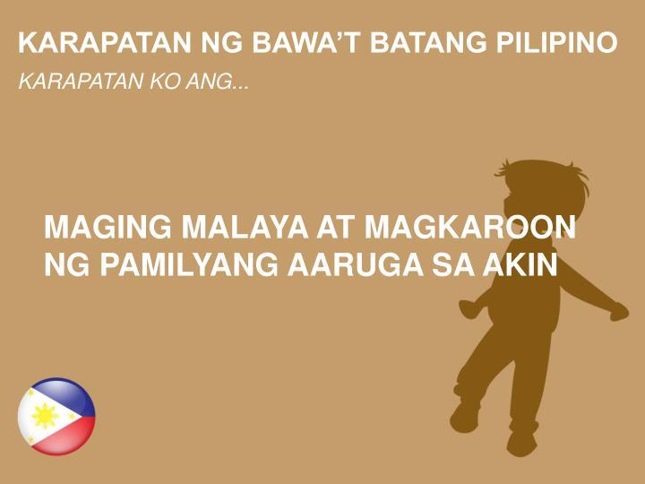 Summary -> Karapatan Ng Batang Pilipino - stargate-rasa info