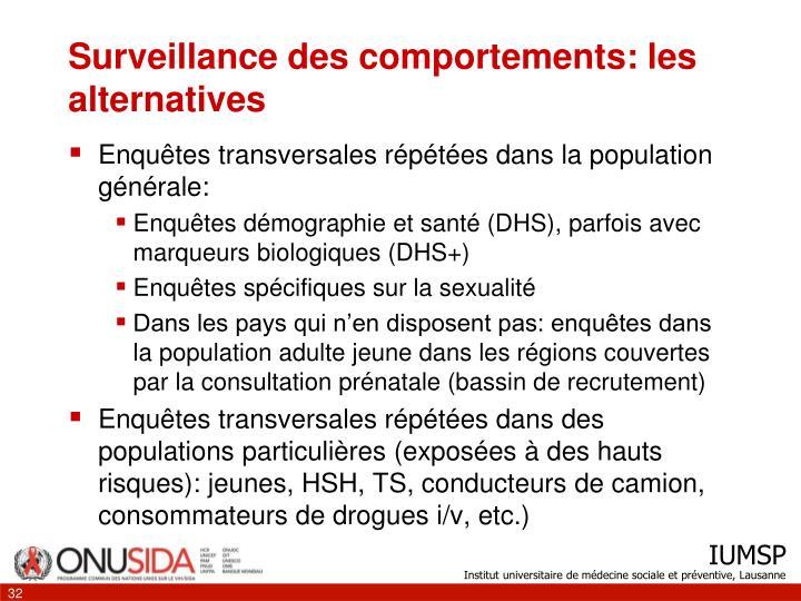 Surveillance des comportements: les alternatives