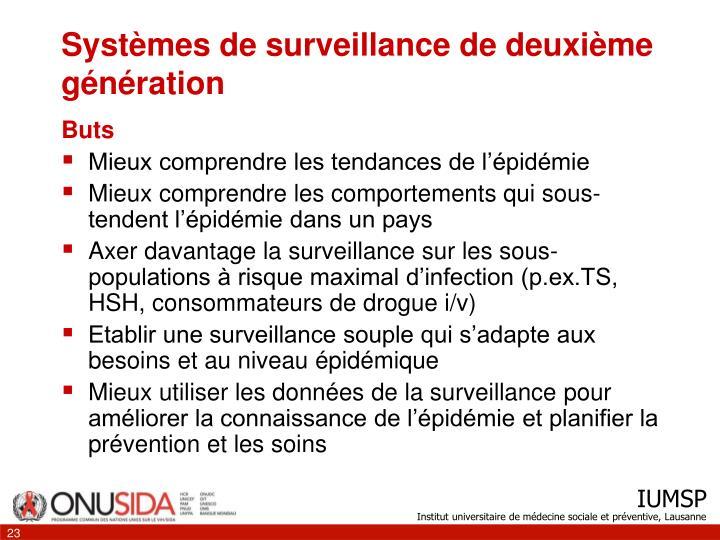 Systèmes de surveillance de deuxième génération