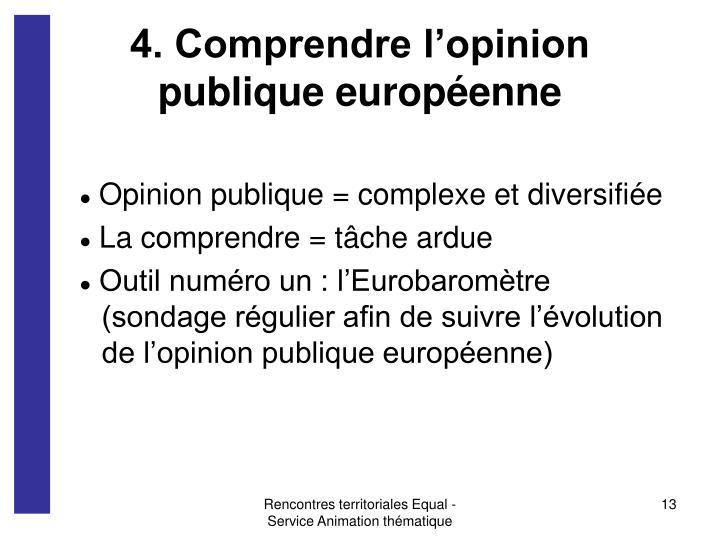 4. Comprendre l'opinion publique européenne