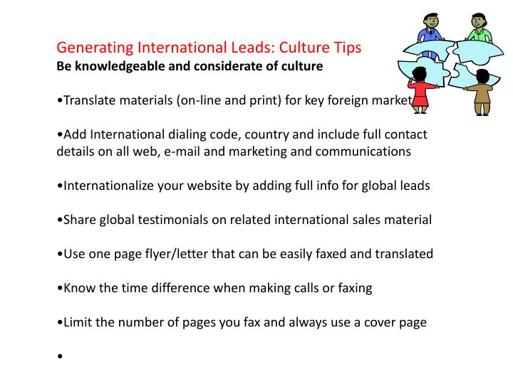 Generating International Leads: Culture Tips
